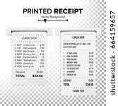 paper check vector. receipt or... | Shutterstock .eps vector #664159657