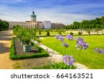 the park and gardens of...   Shutterstock . vector #664163521