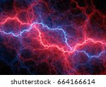 red and blue plasma  hot plasma ... | Shutterstock . vector #664166614