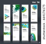 abstract business vector set of ... | Shutterstock .eps vector #664176175