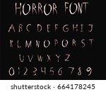 horror font   vector art  ...