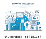 financial management  analysis... | Shutterstock .eps vector #664181167