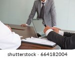 young business people having a... | Shutterstock . vector #664182004