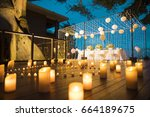dinner set up | Shutterstock . vector #664189675
