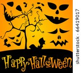 cute halloween illustration | Shutterstock . vector #66419017