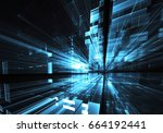 computer generated abstract... | Shutterstock . vector #664192441