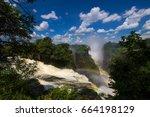 zambezi river at victoria's... | Shutterstock . vector #664198129