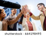business  education and... | Shutterstock . vector #664198495