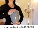 cremation  people and mourning...   Shutterstock . vector #664200034