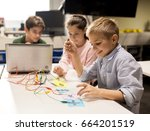 education  children  technology ... | Shutterstock . vector #664201519
