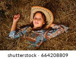 Little Beautiful Girl Cowboy