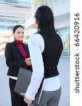 a pretty young women business... | Shutterstock . vector #66420916