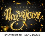 happy new year lettering... | Shutterstock .eps vector #664210231