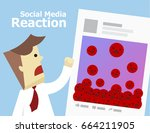 illustration vector of social... | Shutterstock .eps vector #664211905