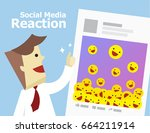 illustration vector of social... | Shutterstock .eps vector #664211914