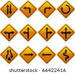 Glossy Diamond Road Arrow Sign...