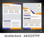 flyer design template vector ... | Shutterstock .eps vector #664224799