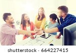 business  startup  architecture ... | Shutterstock . vector #664227415