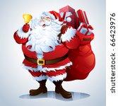 Santa Claus Carrying Sack Full...