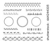 collection of vector graphic... | Shutterstock .eps vector #664244335