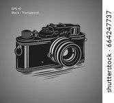 vintage camera vector... | Shutterstock .eps vector #664247737