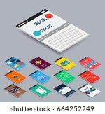 vector isometric mobile app ui...