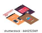 isometric mobile app ui design ...