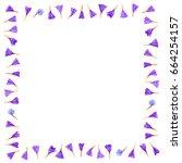 frame from limonium flowers... | Shutterstock . vector #664254157