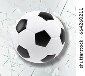sport illustration with soccer... | Shutterstock . vector #664260211