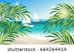 vector eps 10. summer vacation... | Shutterstock .eps vector #664264414