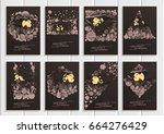 stock set collection vector...   Shutterstock .eps vector #664276429