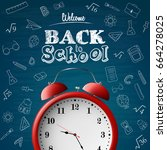 back to school background with... | Shutterstock .eps vector #664278025