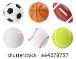 sports balls 3d illustration...   Shutterstock . vector #664278757