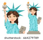 patriot day. labor day. statue...   Shutterstock .eps vector #664279789