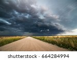 Dramatic Dark Storm Clouds And...
