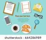 concept of  business meeting... | Shutterstock .eps vector #664286989