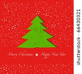 card with christmas tree. vector | Shutterstock .eps vector #66430321