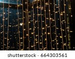 the bulb light and many small...   Shutterstock . vector #664303561