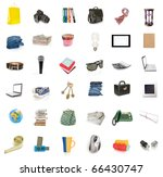 objects collection isolated on...   Shutterstock . vector #66430747