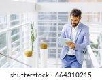 portrait of handsome...   Shutterstock . vector #664310215