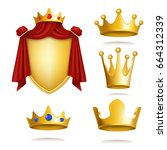 set of vector icons of royal... | Shutterstock .eps vector #664312339