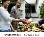 african descent people with...   Shutterstock . vector #664316419