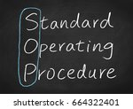 sop standard operating procedure | Shutterstock . vector #664322401
