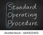 sop standard operating procedure | Shutterstock . vector #664322401