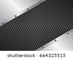 metal background with black... | Shutterstock .eps vector #664325515