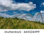 bridge over rideau river has... | Shutterstock . vector #664326499