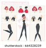 police officer character for...   Shutterstock .eps vector #664328239