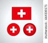 flag design. swiss flag set.... | Shutterstock .eps vector #664330171