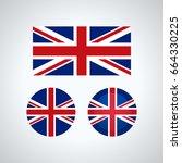 flag design. english flag set.... | Shutterstock .eps vector #664330225