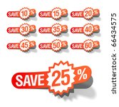 discount labels. vector | Shutterstock .eps vector #66434575